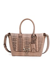 Valentino Garavani Demilune Small Watersnake Satchel Bag