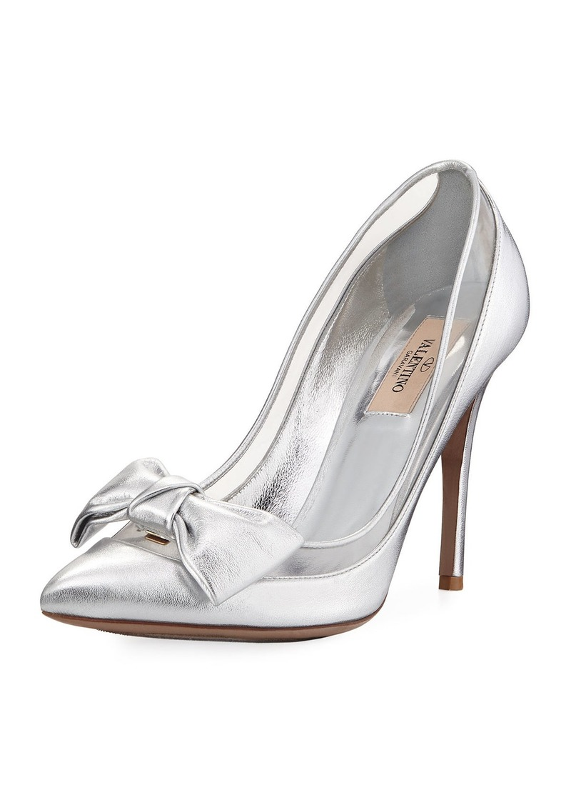 388376e5d10 SALE! Valentino Valentino Garavani Dolly Bow Metallic Pumps