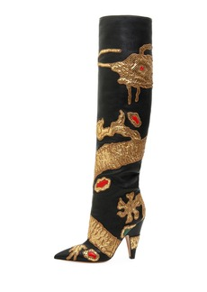 Valentino Garavani Dragon Embellished Over-The-Knee Boot