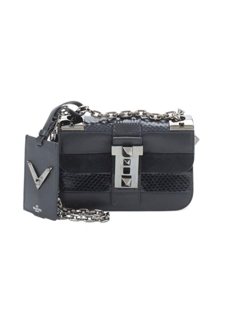 Valentino Garavani Embossed Leather Crossbody Bag
