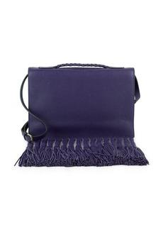 Valentino Foldover Leather Shoulder Bag