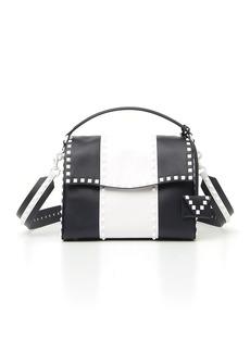 Valentino Free Rockstud Colorblock Leather Satchel Bag