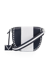 Valentino Garavani Free Rockstud Leather Saddle Shoulder Bag