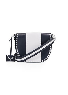 Valentino Free Rockstud Leather Saddle Shoulder Bag