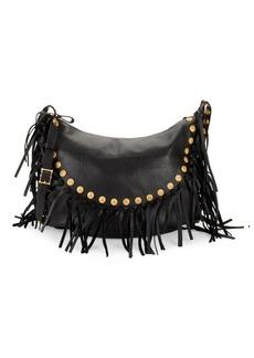 Valentino Garavani Fringe Leather Hobo Bag