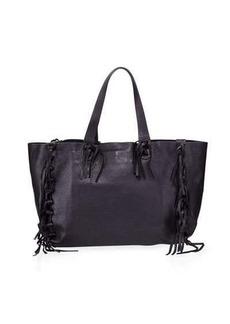 Valentino Garavani Fringe-Trim Large Tote Bag