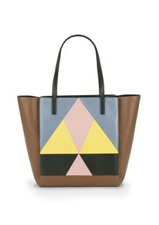 Valentino Geometric Leather Tote
