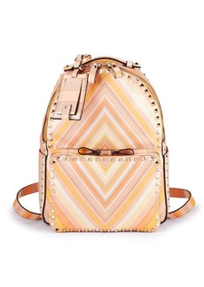 Valentino Garavani Geometric Print Leather Backpack