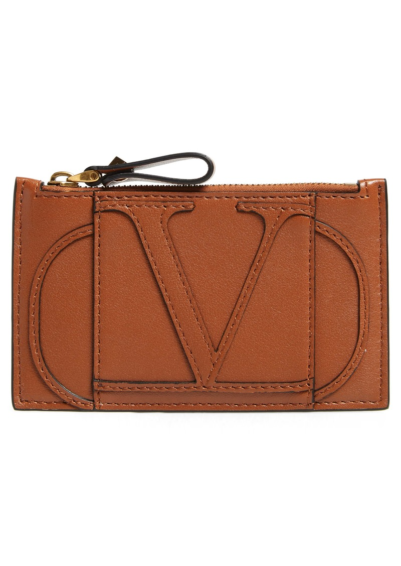 Valentino Garavani Go Logo Leather Card Case
