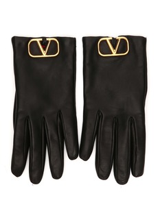 Valentino Garavani GO Logo Leather Gloves