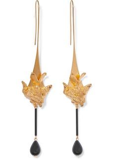 Valentino Garavani Gold-tone And Bead Earrings