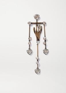 Valentino Garavani Gold-tone Crystal Earring