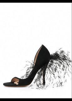 Valentino Garavani High-Heel Sandal with Feathers