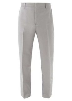 Valentino Garavani High-rise mohair-blend straight-leg trousers