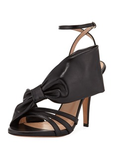 Valentino Garavani Large Bow Leather Sandal