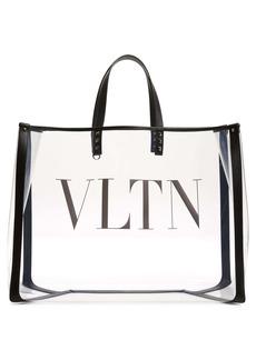 Valentino Garavani Large Grande Plage VLTN Logo Clear Tote