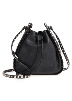 VALENTINO GARAVANI Large Rockstud Leather Bucket Bag