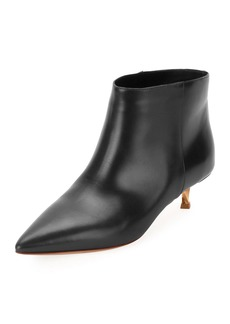 Valentino Garavani Leather Point-Toe 40mm Booties