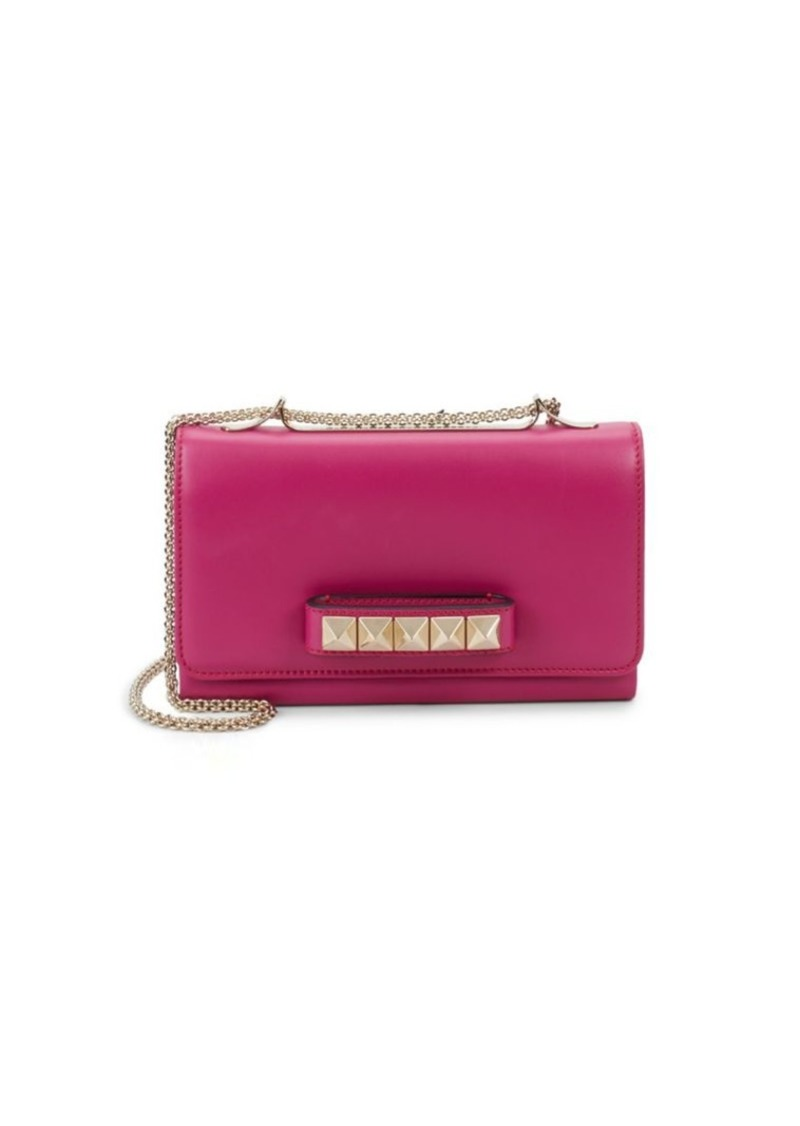 Leather Rockstud Versatile Clutch Bag Valentino