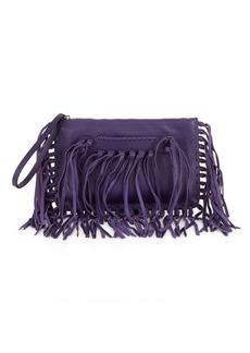 Valentino Garavani Leather Tassel Clutch