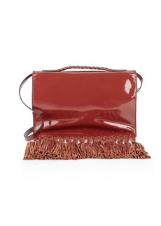 Valentino Leather Tassel Clutch Bag