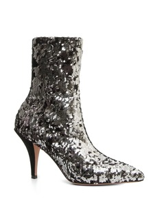 VALENTINO GARAVANI Liquid Metal Sequin Bootie (Women)