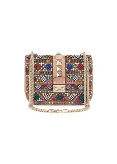 Valentino Lock Beaded Small Shoulder Bag