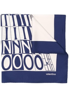 Valentino Garavani logo print scarf