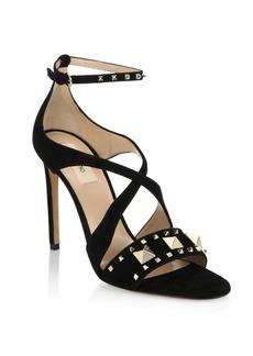 VALENTINO GARAVANI Lovestud Suede Sandals