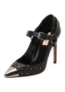 Valentino Mary Jane Quilted Rockstud Pumps