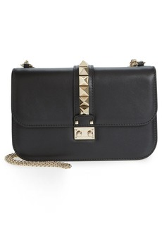 VALENTINO GARAVANI 'Medium Lock' Studded Leather Shoulder Bag