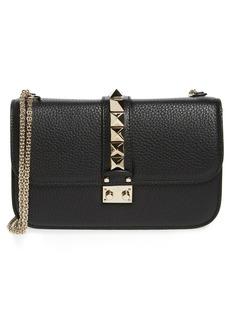 VALENTINO GARAVANI Medium Lock Studded Leather Shoulder Bag