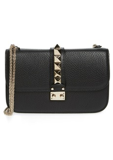 VALENTINO GARAVANI Medium Lock Studded Leather Shoulder Bag