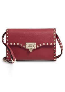 VALENTINO GARAVANI Medium Rockstud Leather Messenger Bag
