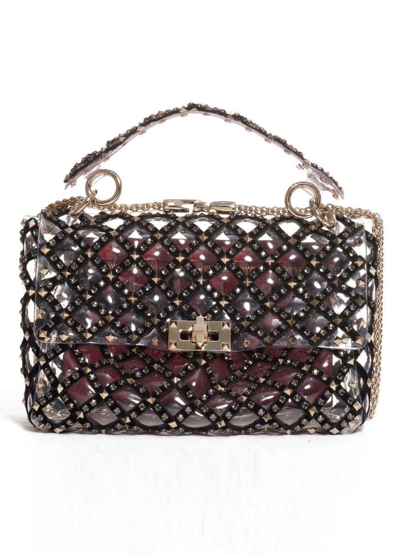 Valentino Garavani Medium Spike It Rockstud Transparent Shoulder/Crossbody Bag