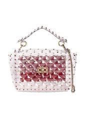 Valentino Medium Spike Embellished Pvc Bag
