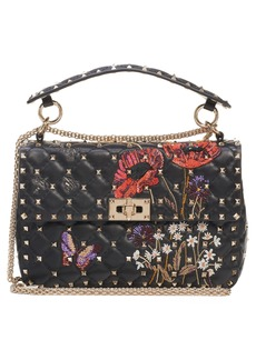 VALENTINO GARAVANI Medium Spike.It Beaded Leather Shoulder Bag