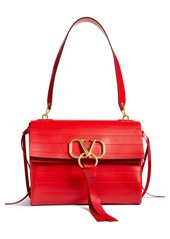 VALENTINO GARAVANI Medium V-Ring Leather Shoulder Bag
