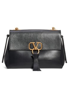 VALENTINO GARAVANI Medium Vee Ring Leather Shoulder Bag