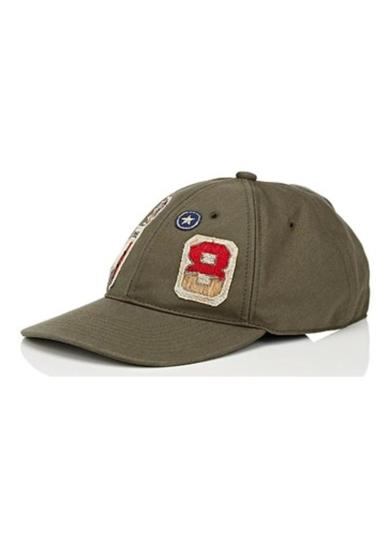 Mens Appliquéd Cotton Twill Baseball Cap Valentino