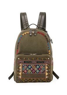 Valentino Garavani Men's Beaded Canvas Backpack