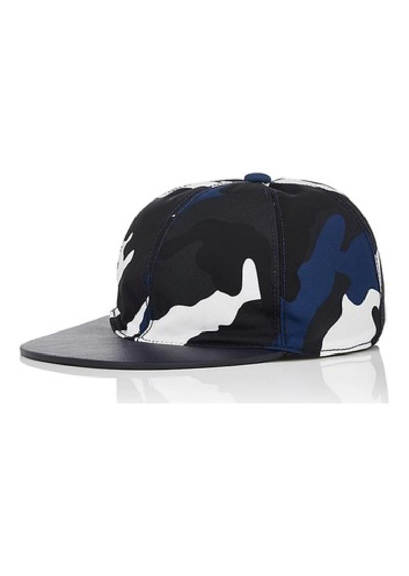 Garavani Men s Camouflage Tech-Twill   Leather Baseball Cap. Valentino 14663f6fb3c
