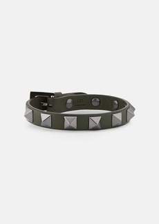 Valentino Garavani Men's Rockstud Bracelet - Green
