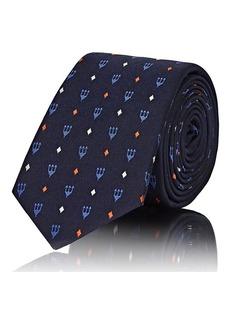 Valentino Garavani Men's Trident-Pattern Silk Necktie