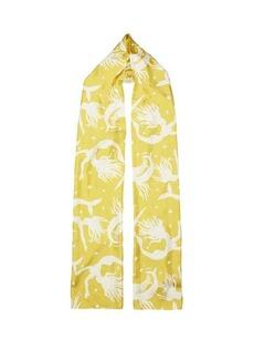 Valentino Garavani Mermaid-print silk headscarf