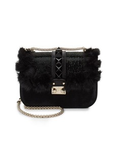Valentino Mini Mink Fur Shoulder Bag