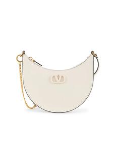 Valentino Mini Vlogo Leather Hobo Bag