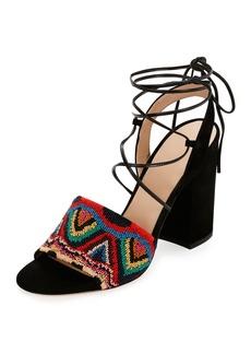 Valentino Garavani Native Beaded Lace-Up Sandal