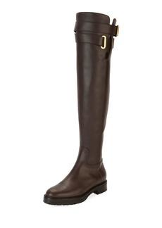 Valentino Garavani Over-the-Knee Leather Boot