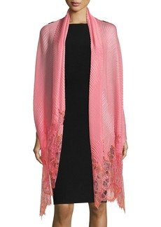 Valentino Painted Lace Plisse Shawl
